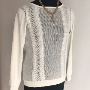 White Cable Sweater NWOT
